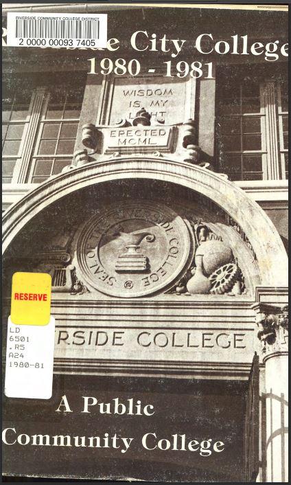 1980-1981 Riverside City College Catalog