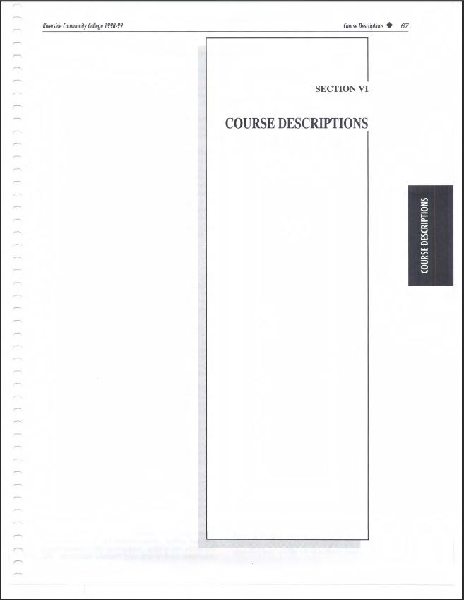 1998-1999 Riverside City College Catalog