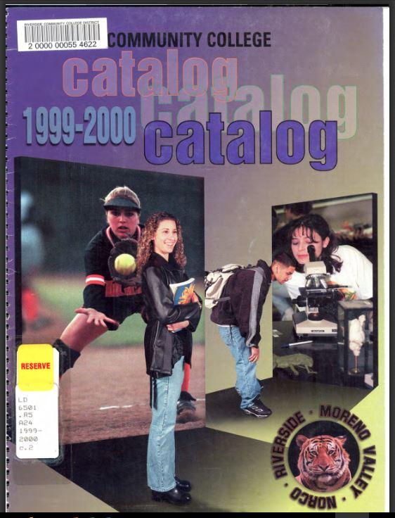 2000-2001 Riverside City College Catalog
