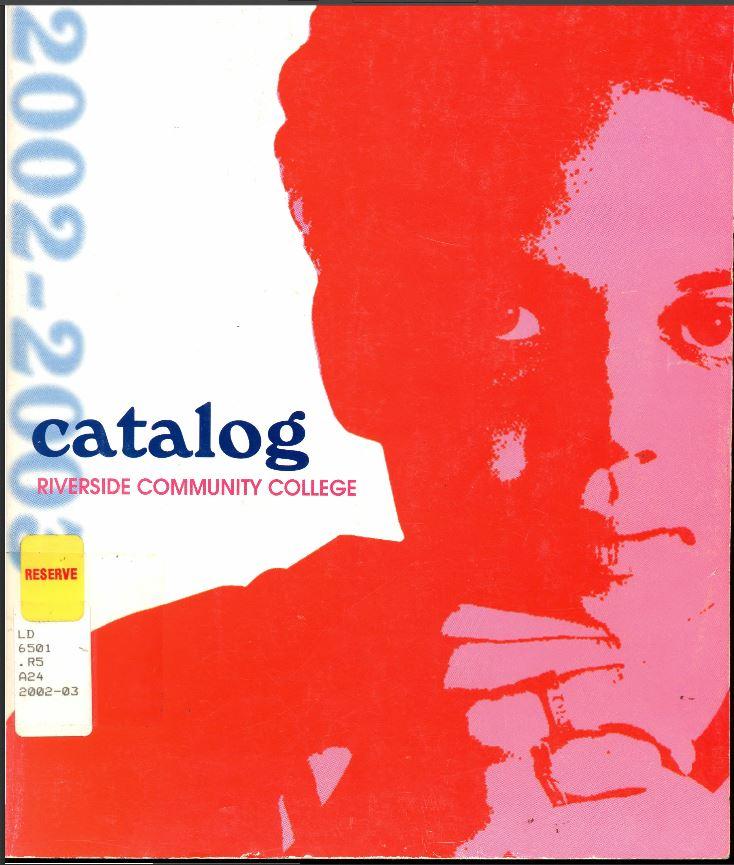 200-2003 Riverside City College Catalog