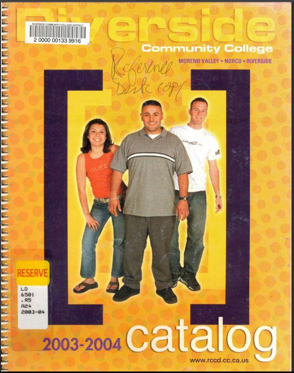 2003-2004 Riverside City College Catalog