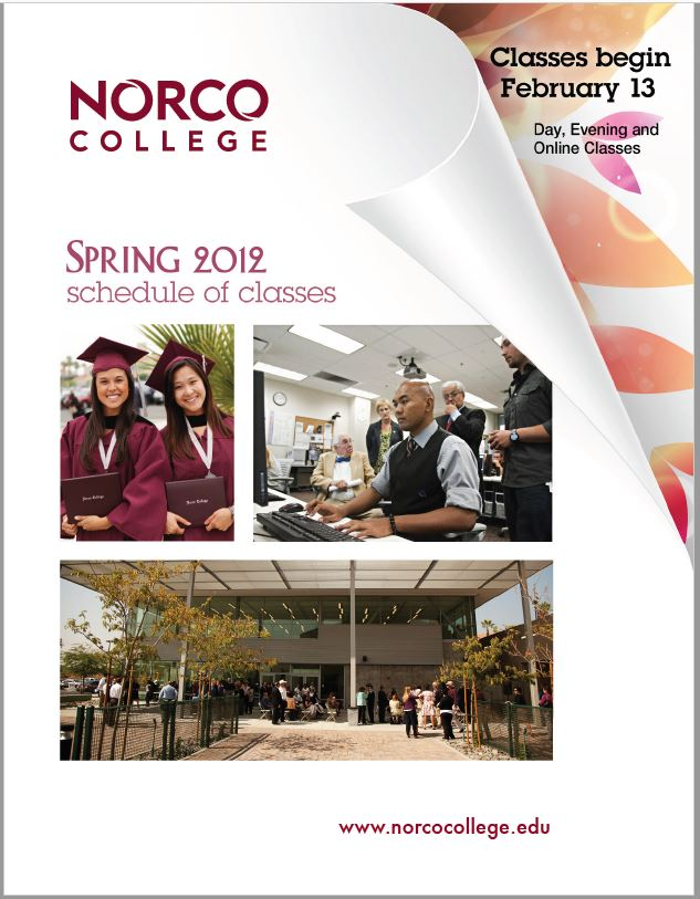 Riverside Community College District Schedule of Classes, Norco, Spring 2012