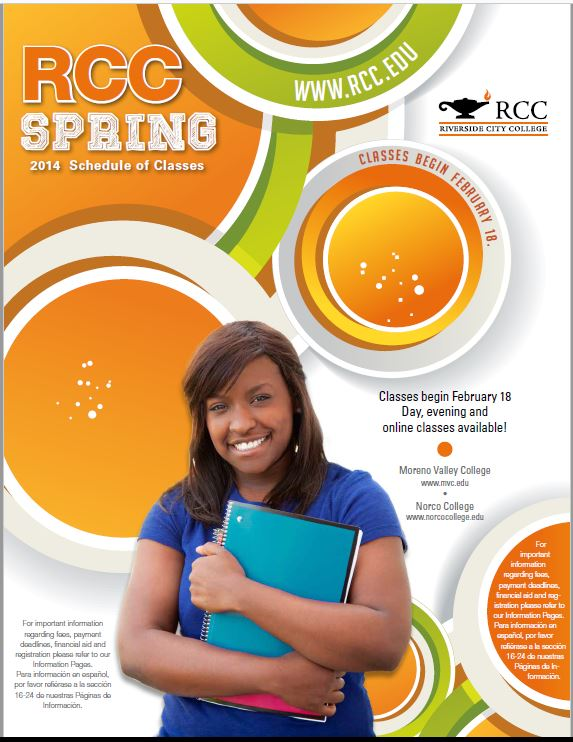 Riverside Community College District Schedule of Classes Spring 2014