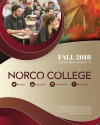 Riverside Community College District Schedule of Classes Fall 2018