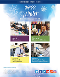 Riverside Community College District Schedule of Classes Winter 2018