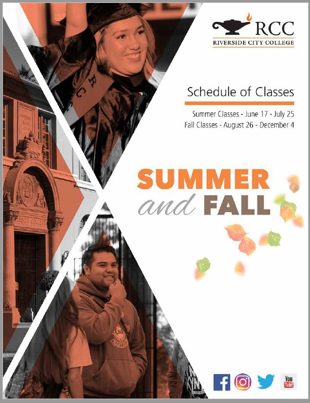 Riverside Community College District Schedule of Classes Summer/Fall 2019