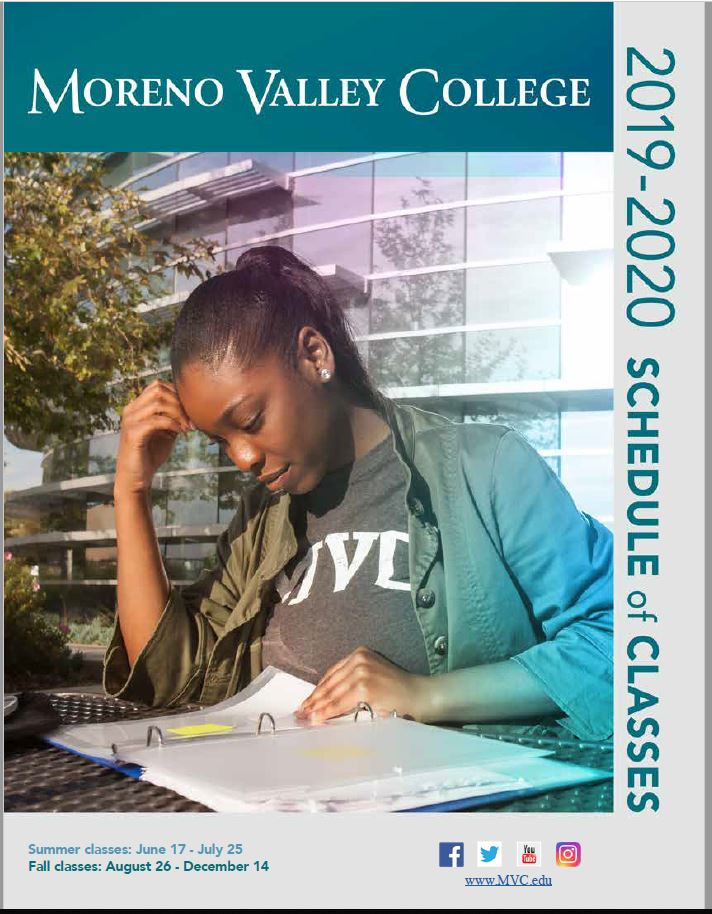 Riverside Community College District Schedule of Classes Summer and Fall 2019