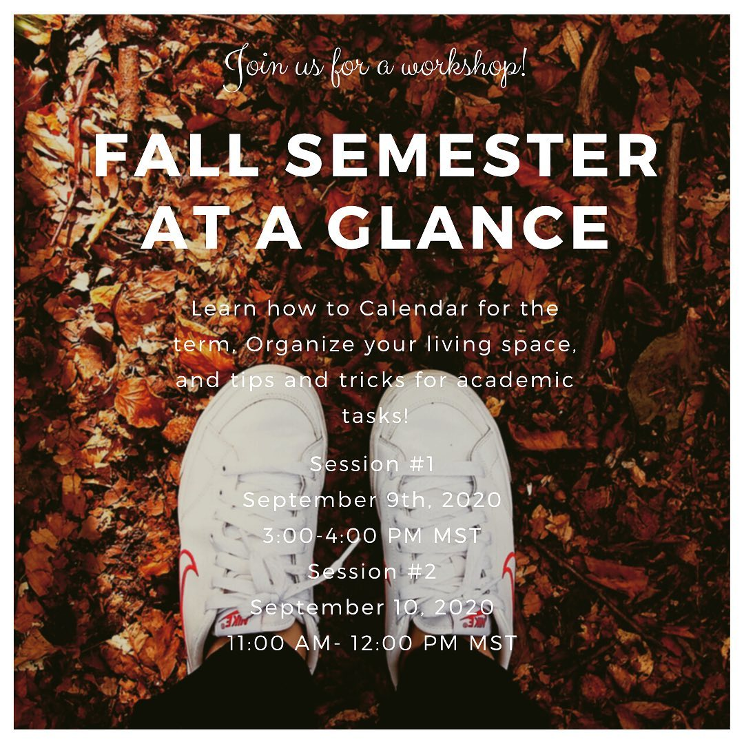 Fall semester at a Glance Workshop