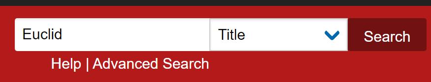 "Screenshot of search box - ""Euclid"""