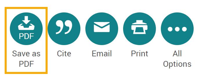 Screenshot of Save as PDF icon
