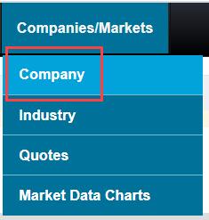 Company link screenshot