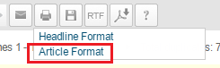 select article format from drop down print menu