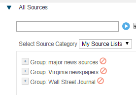 sources drop down menu
