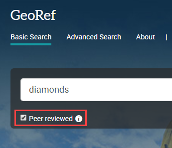 select peer reviews in search box