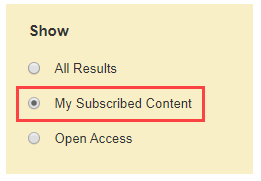 red box around my subscribed content