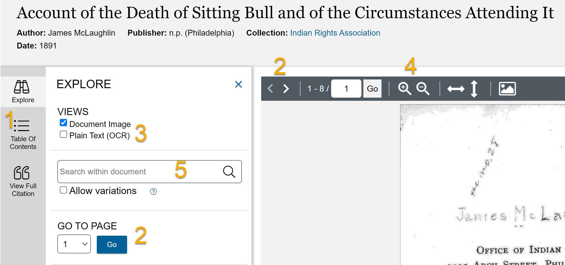 Screenshot of document viewer