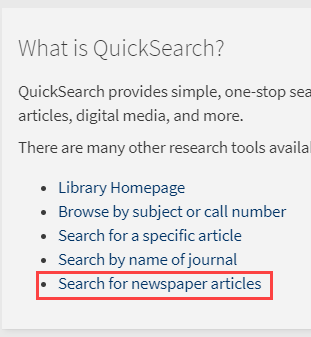search for newspaper articles link
