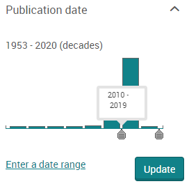 publication date filter slider