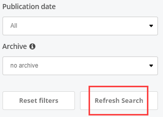 refresh search button
