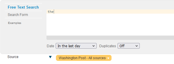Factiva search example
