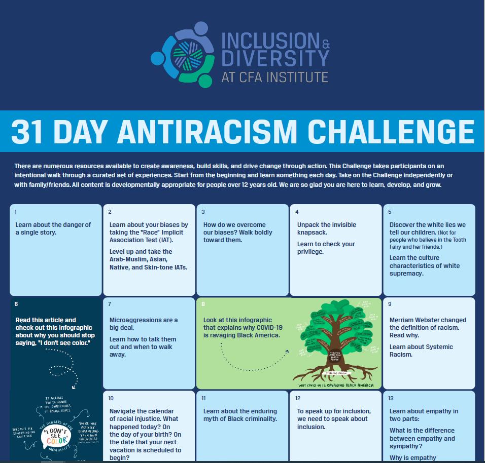 31 Day Antiracism Challenge Screenshot