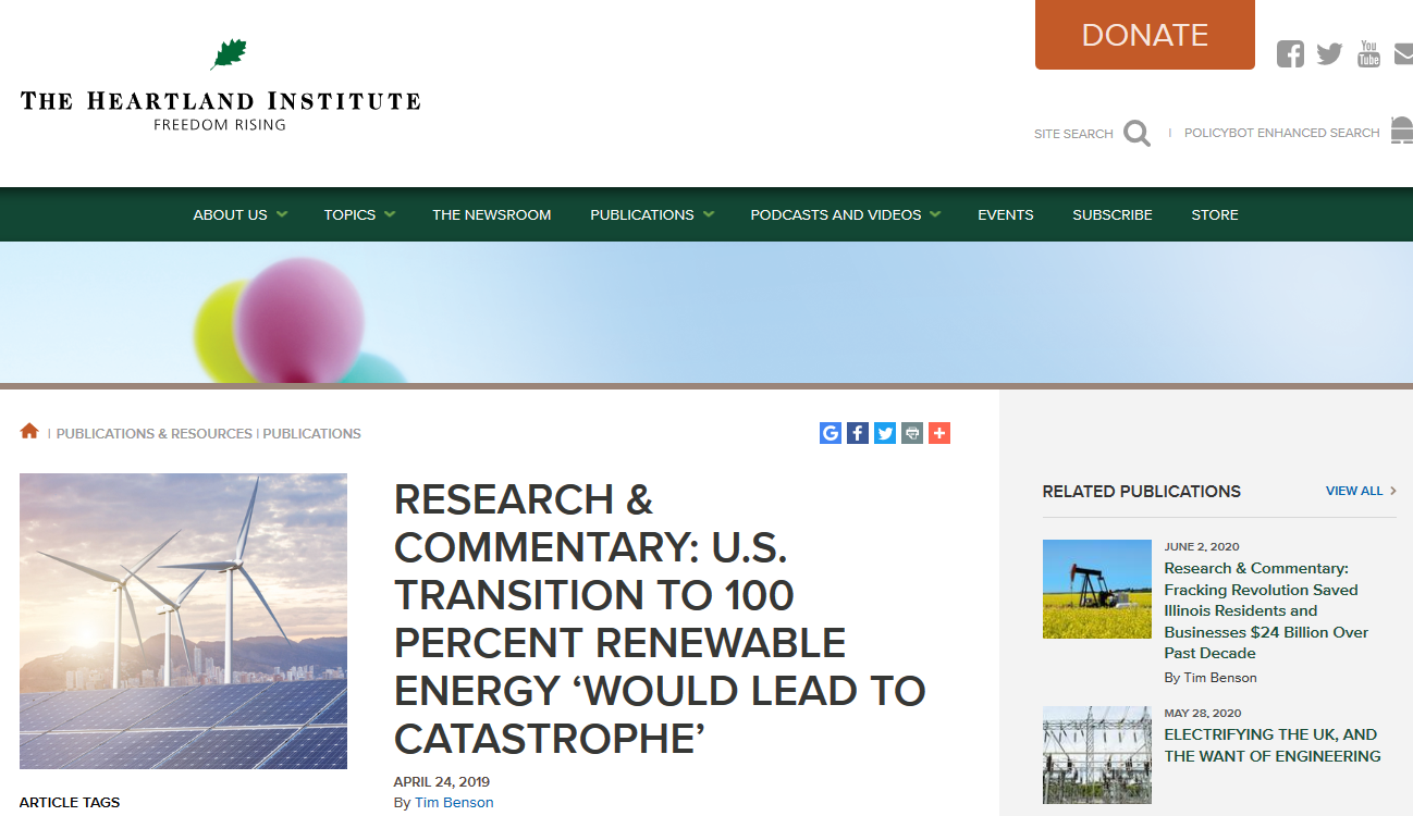 The Heartland Institute article