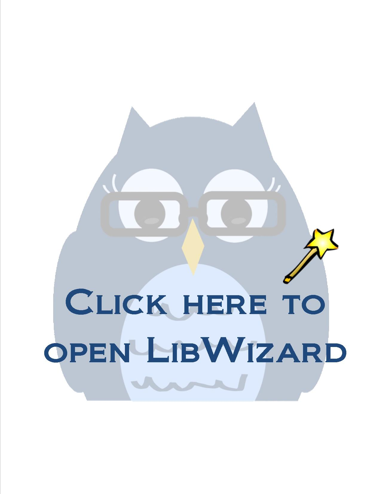 Click here to open LibWizard