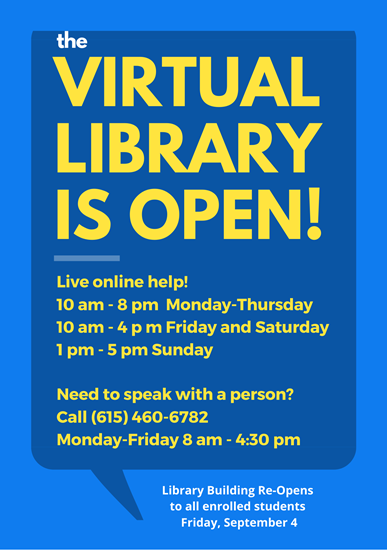 The virtual library is open