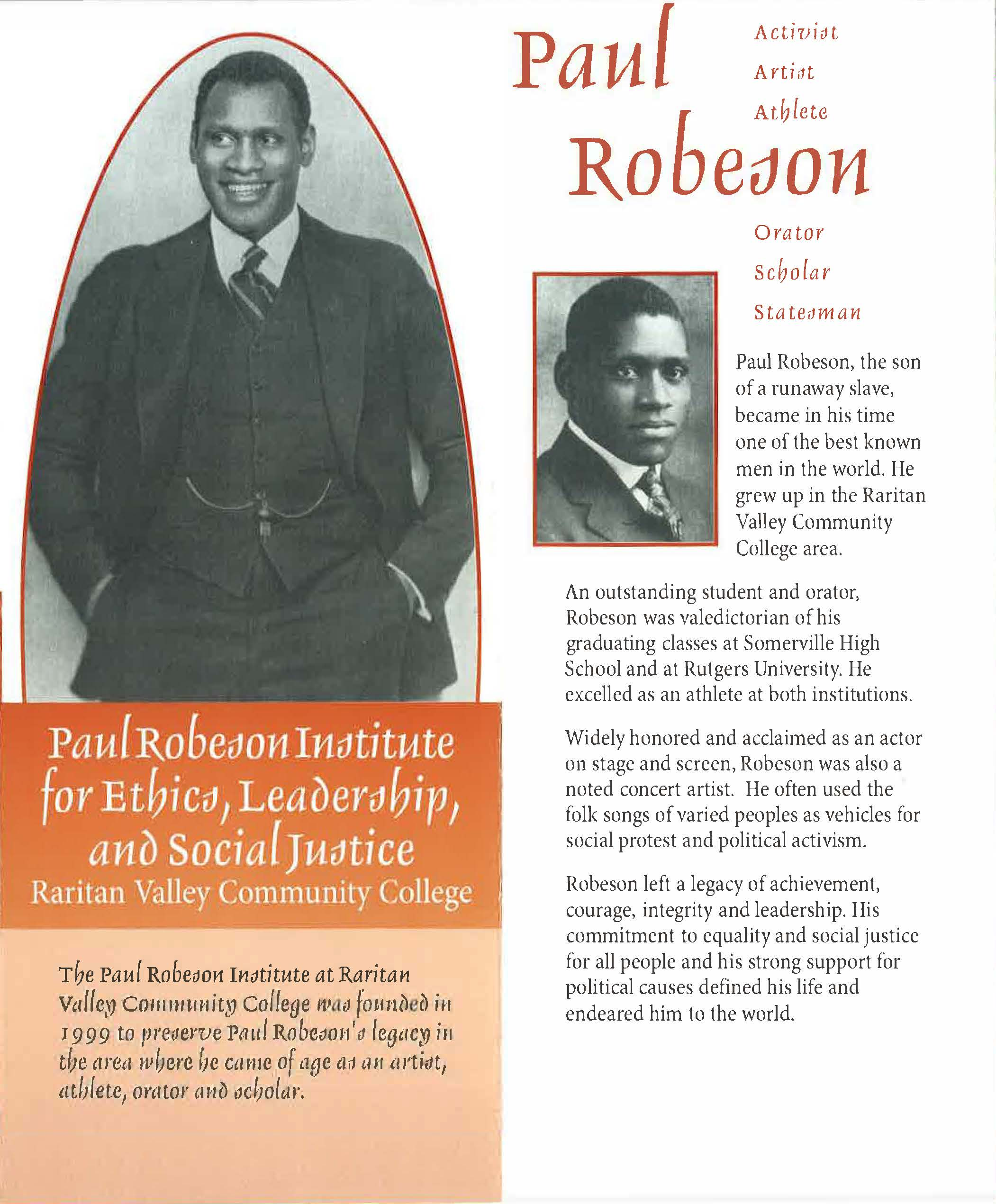 Paul Robeson Institute for Ethics, Leadership and Social Justice