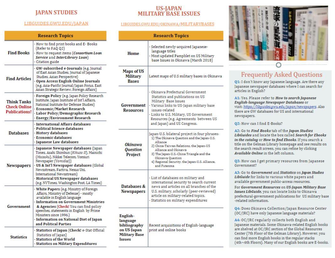 Okinawa Collection/Japna Resource Center brochure