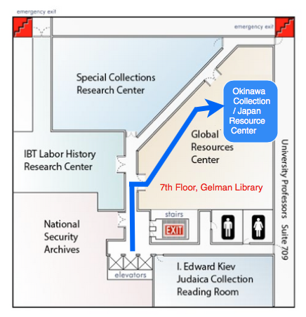 Gelman Library 7th floor map