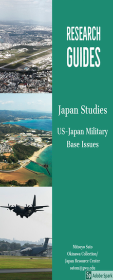 Japan Studies & US Military Base Issues Research Guides