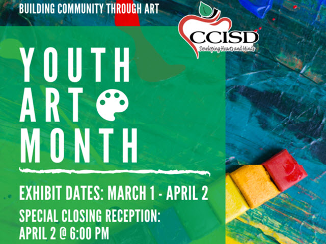 CCISD Youth Art Month Flyer