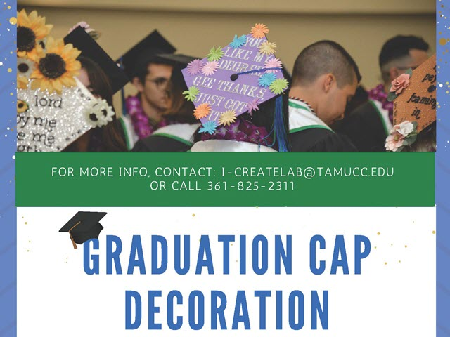Picture of decorated graduation caps