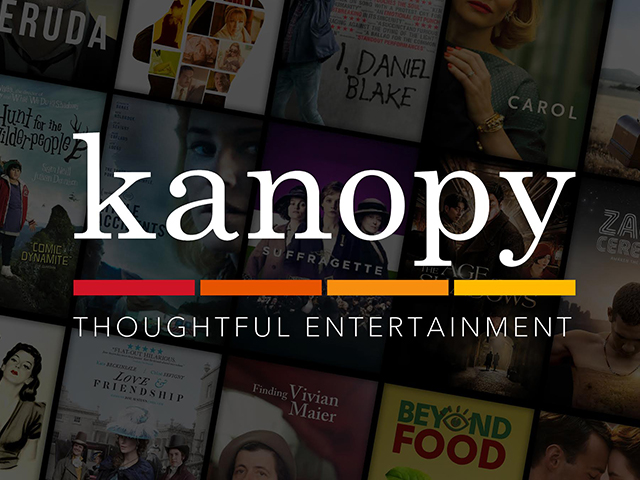 screenshot of Kanopy promotion