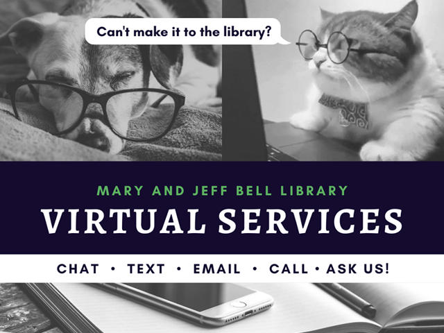 Image promoting library services from a distance