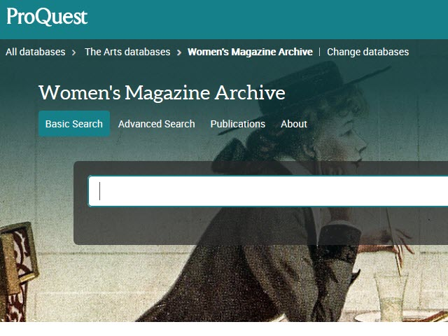Women's Magazine Archive Screenshot