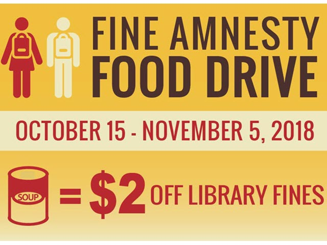 Fine Amnesty Food Drive Announcement