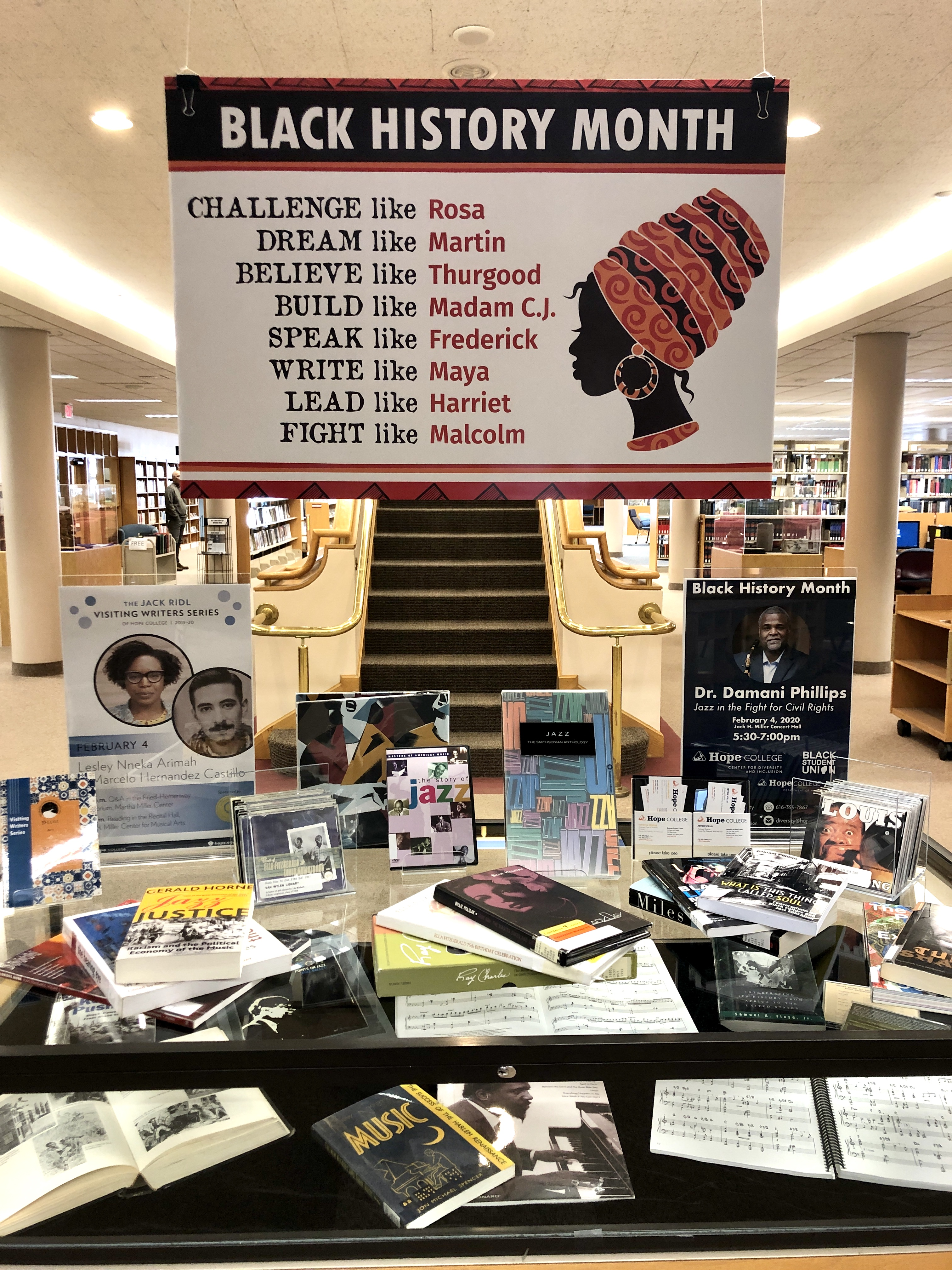 Library Black History Month Display