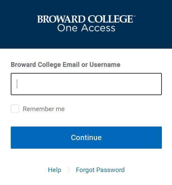 Broward College One login single sign on