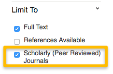 Peerreview filter