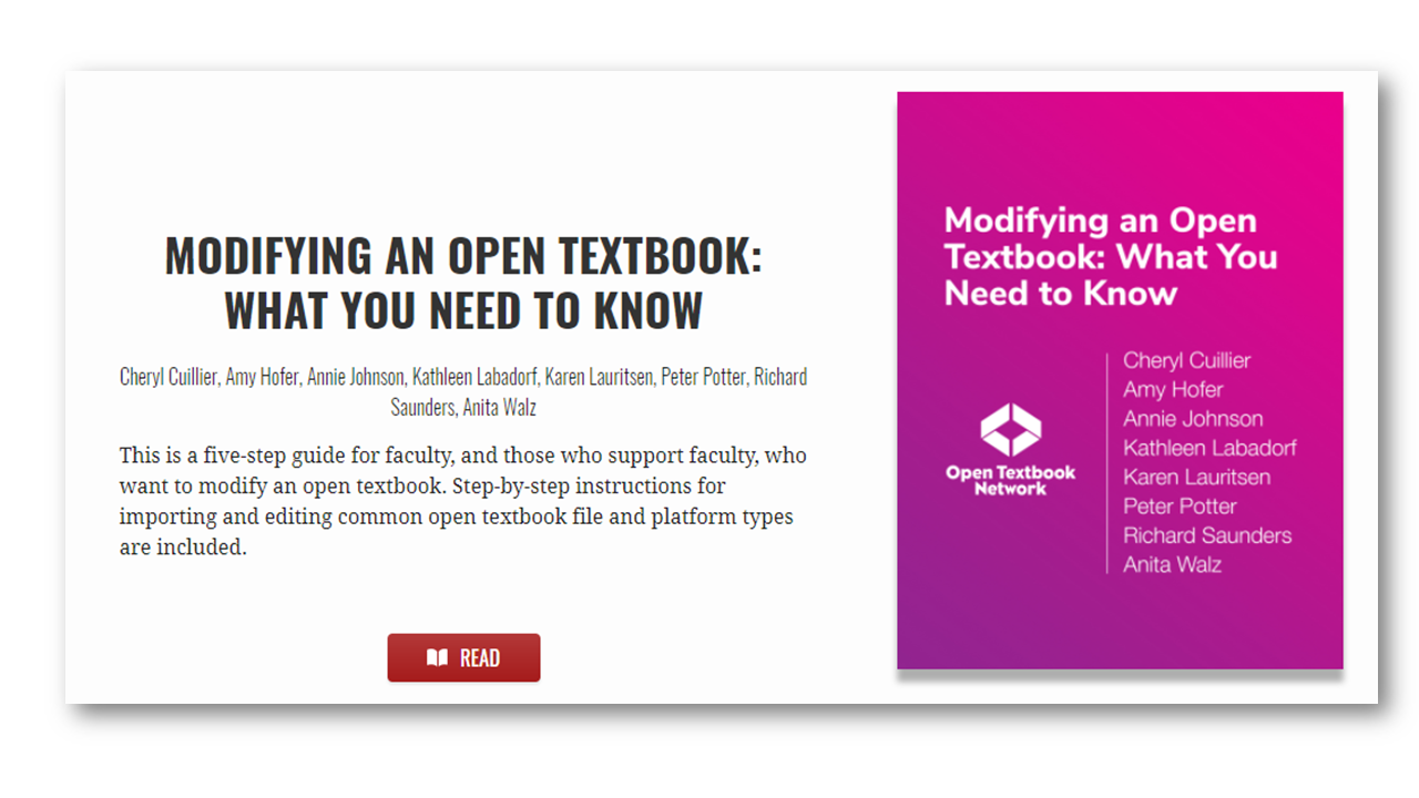 Modifying an Open Textbook