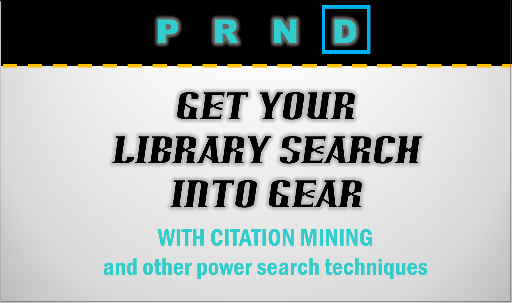 Use citation mining to power-search.  Learn more by clicking on the slide.