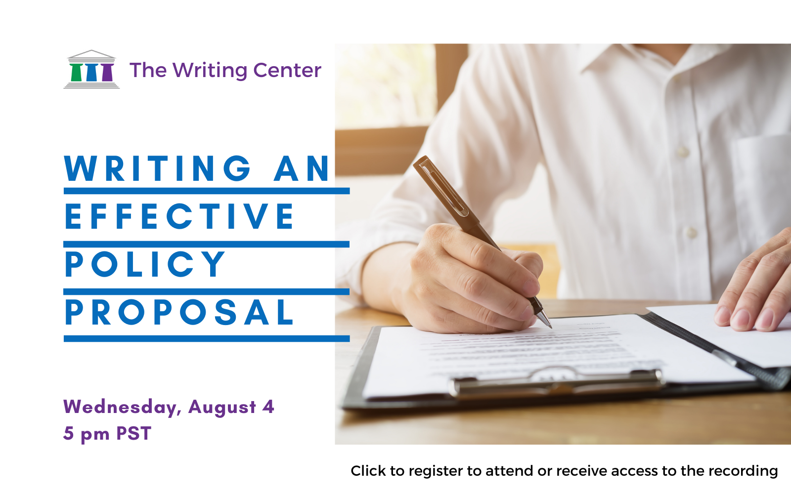 Writing an Effective Policy Proposal - Workshop by the Writing Center