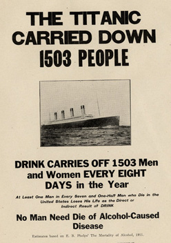 The Titanic carried down 1503 people ...drink carries off the same amount every 8 days