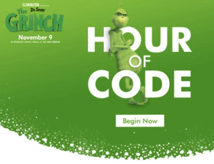 grinch hour of code text