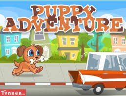 puppy and car with puppy adventure text