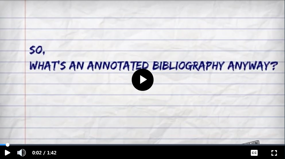 annotated bibliography video