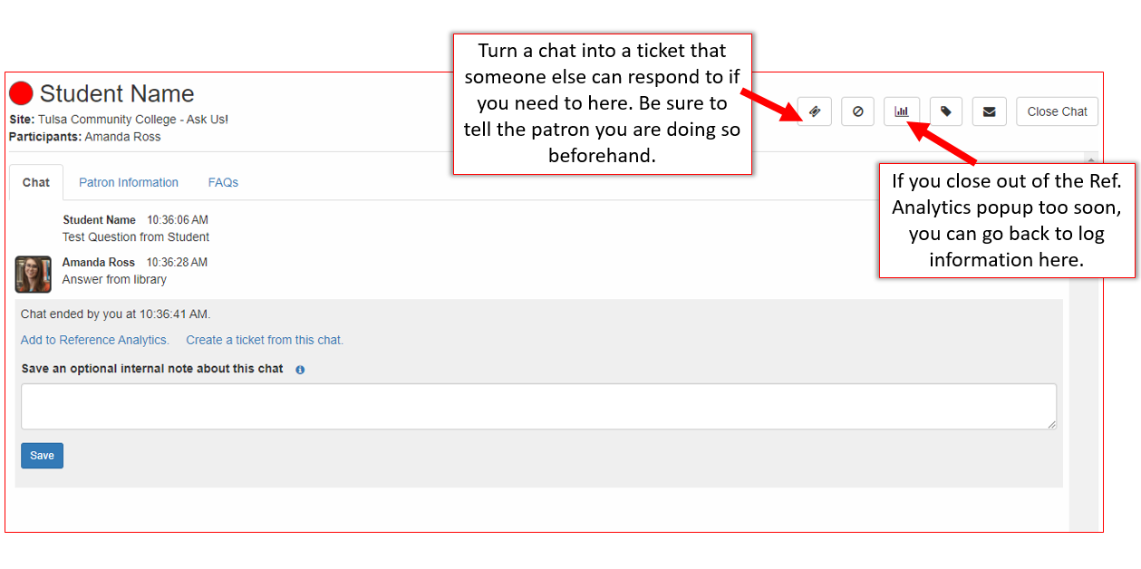 chat into ticket