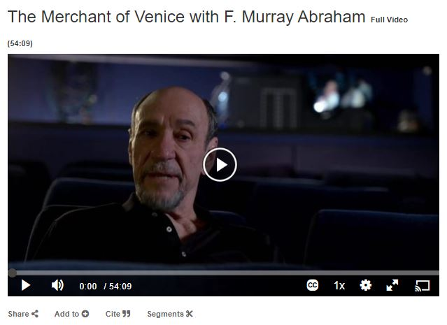 the merchant of venice with f. murray abraham